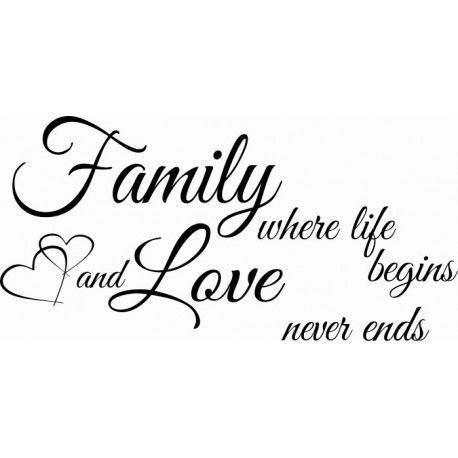 Family Where Life Begins And Love Never Ends Tattoo Quotes