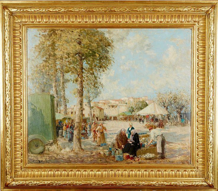 William Lee-Hankey - A Riviera Market, oil on canvas