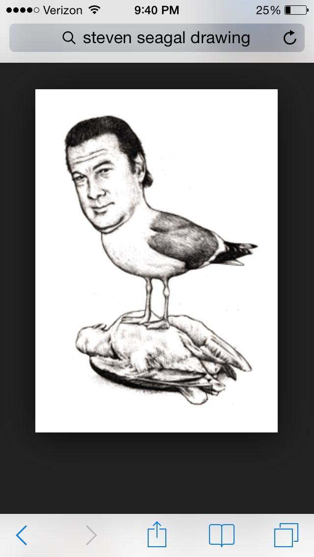 Steven Seagel...haha seagull