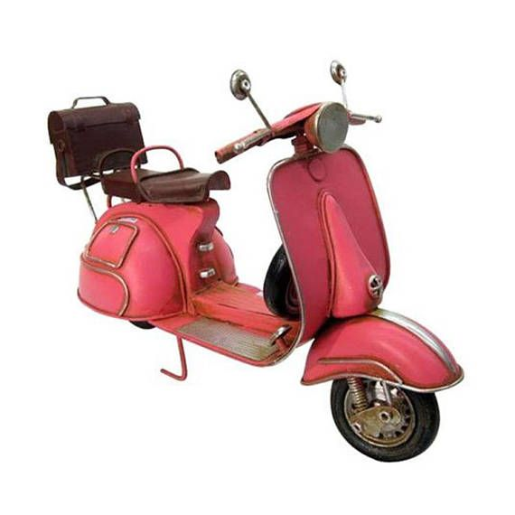 Retro Classic Car Model Iron Mini Car Model For Gifts Vintage Metal Crafts | Bar Desktop | Decorative For: Office Home Decor, Production & events, restaurants, home, office, Bars, Pubs SPECIFICATIONS * Name: Pink Bike * Size: 26 cm width * Materials: Steel, plastic, rubber, fabric