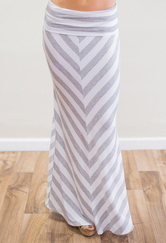 Chevron Times Maxi Skirt – The Mason Jar Boutique