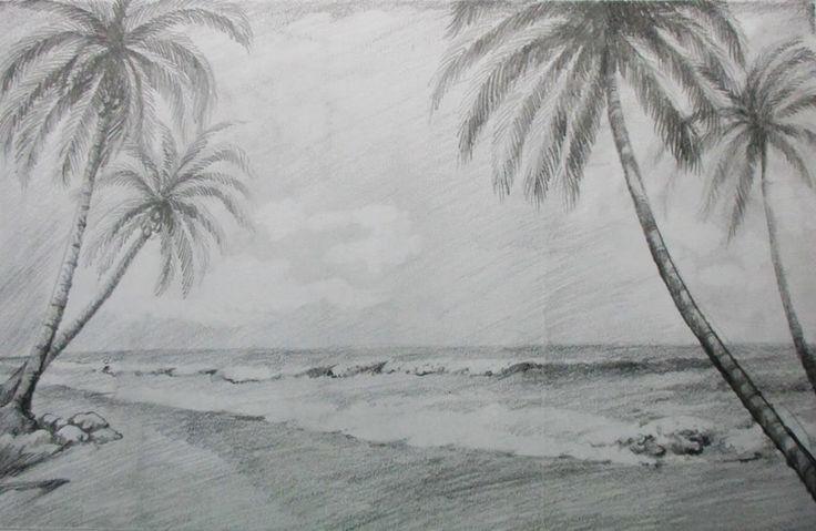 Ik wou tijdens deze tekenopdracht graag een walvis, als eigen toevoeging, in mijn tekening plaatsen. Een realistisch strand vond ik daar goed bij passen.