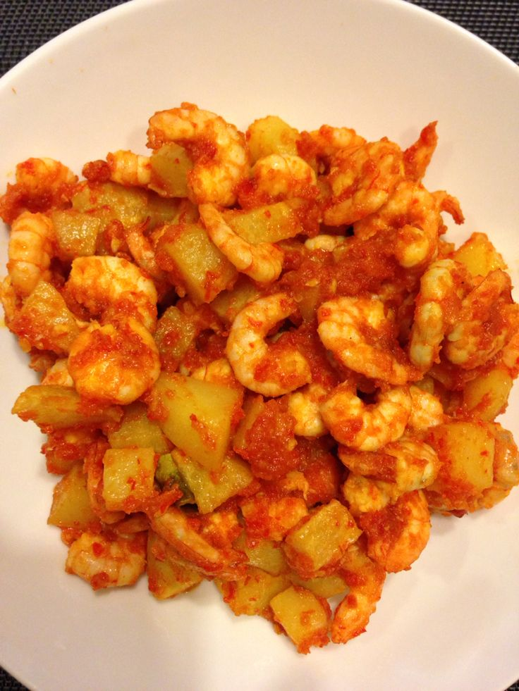 Udang balado kentang #homemade