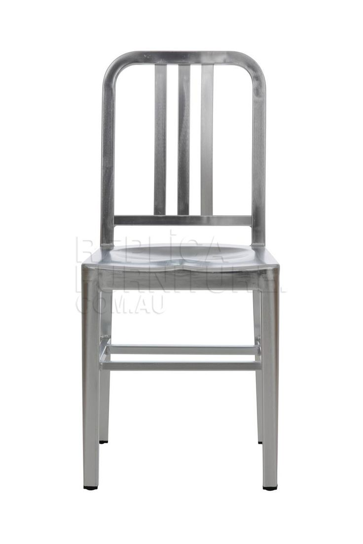 Replica+Emeco+US+Navy+Chair+--+Originally+commissioned+by+the+US+Navy+in+WWII+for+use+on+warships,+the+US+Navy+Chair+remains+a+beautifully+designed+dining+chair.+++The+design+specifications+for+the+Navy+chair+were+simple+-+design+a+sturdy,+robust+and+stylish+chair+that+would+withstand+all+conditions.+This+chair+is+a+true+icon+of+American+design,+and+is+just+as+popular+today…