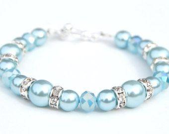 Lavanda pulsera de la perla Bling joyería joyería de morado