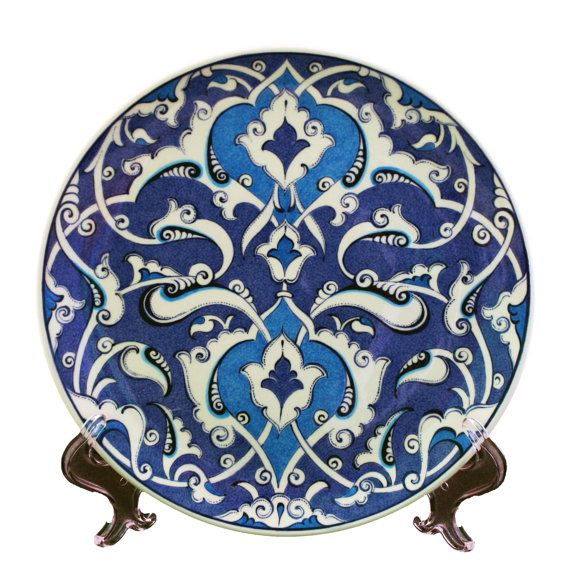 Handmade Iznik Cini Ceramic  Plate by myusatx on Etsy, $200.00
