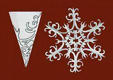 Снежинка | Поделки из бумаги.РФ - схемы оригами из цветной гофрированной бумаги своими руками, видео, фото мастер классы