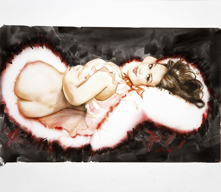 Pin up art #lingerielunch #LolaG