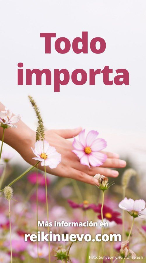 Todo importa, reflexionamos sobre las distintas cosas que podemos hacer en nuestro día a día. Más información: http://www.reikinuevo.com/todo-importa/