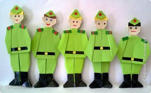 Поделки из бумаги своими руками солдаты