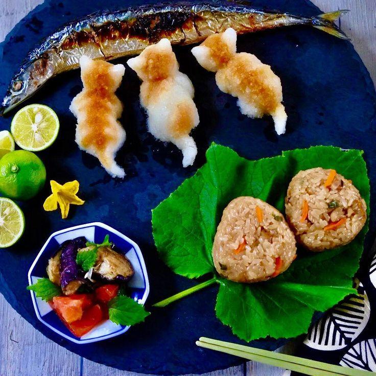 ・ 大根おろしアート ・ ドット柄の猫ちゃんはよく見かけるので トラ柄の猫ちゃんに挑戦してみました〜 うん…なかなかリアル…自己満足ですが ・ 大根おろしアート✧˖° これやってみたかったんです♪ ・ ・ #大根おろしアート #炊き込みご飯 #秋刀魚 #猫 #ねこバカ #ねこ好き #昼ごはん #おうちごはん #和食 #おにぎり #ワンプレート #ワンプレートごはん #クッキングラム #エルアターブル #onigiri #lin_stagrammer #delistagrammer #japanesefood #food #foodstagram #foodphotography #foodie #foodstyling #foodphoto #w7_foods #tv_living #tv_lifestyle #igersjp #neko
