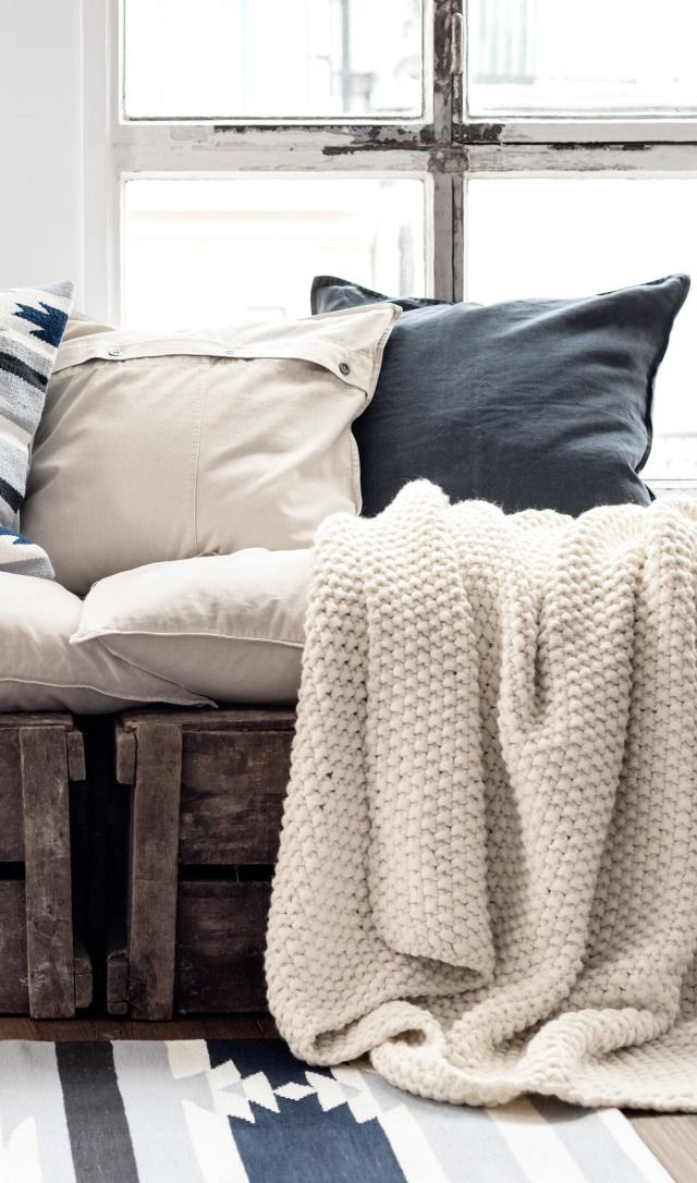 home STYLE// being home. || what do you think of cases like these for pillows, with extra form and stuffing?