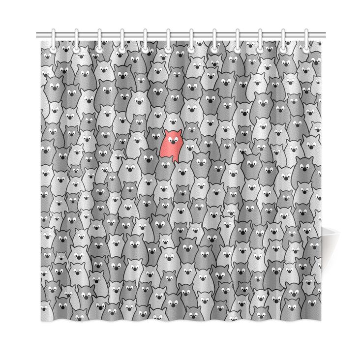 Stand Out From the Crowd Shower Curtain 72
