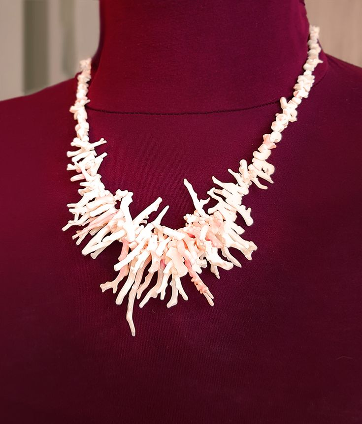 MiaQ | 11/2017 | Coral Collier | Real White-Pink Coral Branches (made from some old flea market stuff)