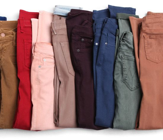 Fall colored denim. YES. i want them all.