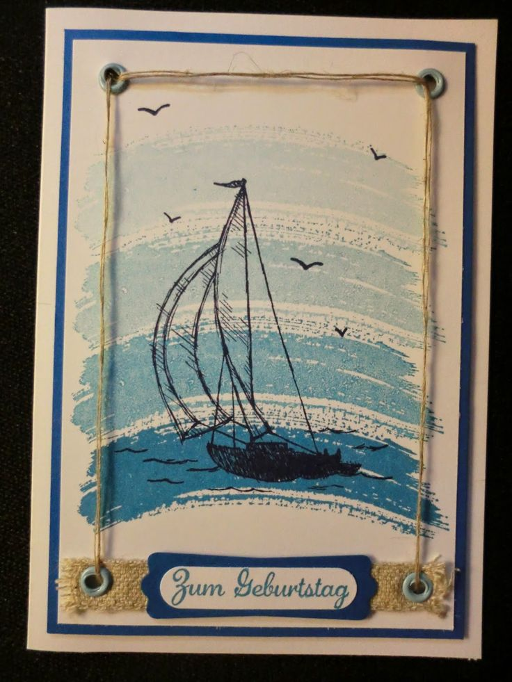 Sconebeker Stempelscheune - Stampin up Sets : Works of Art, Sail Away