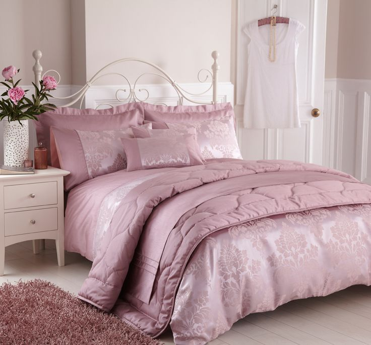 Charlotte Thomas Francesca Quilted Bed Throw In Plum: Our Anastatia Dusky Pink Bedding Sets Is One Of The Most