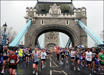 I know that the Boston marathon is on top of a lot of runner's lists, but I would rather run the London marathon.