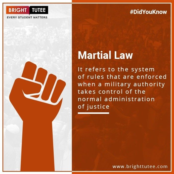 Do You Know What Is Martial Law Brighttutee Learnwithbt Scorewithbt Quiz Bebright Downloadbt Brighttutee Studen Online Lectures Student Online Classes