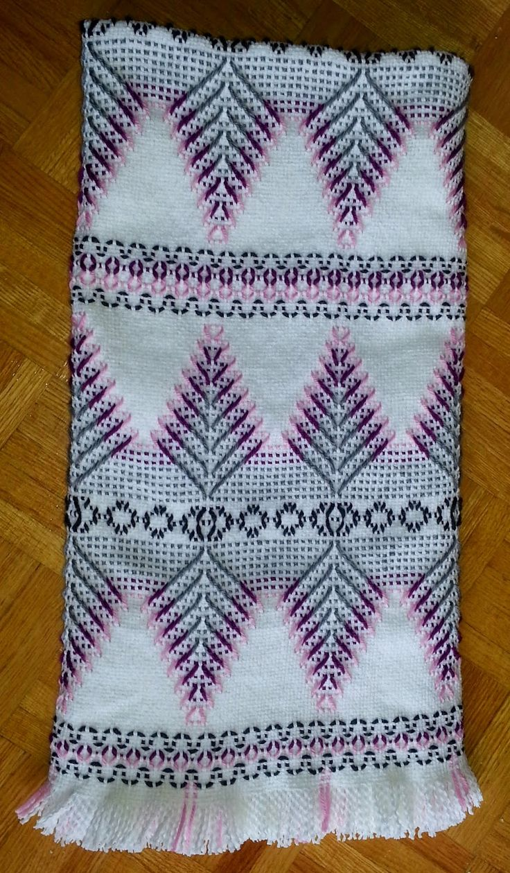 Swedish Weaving Club: Lisa's Afghan                                                                                                                                                     More