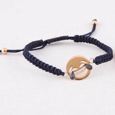 Laughing tears bracelet, gold, diamonds and saphire! www.cazabrand.com