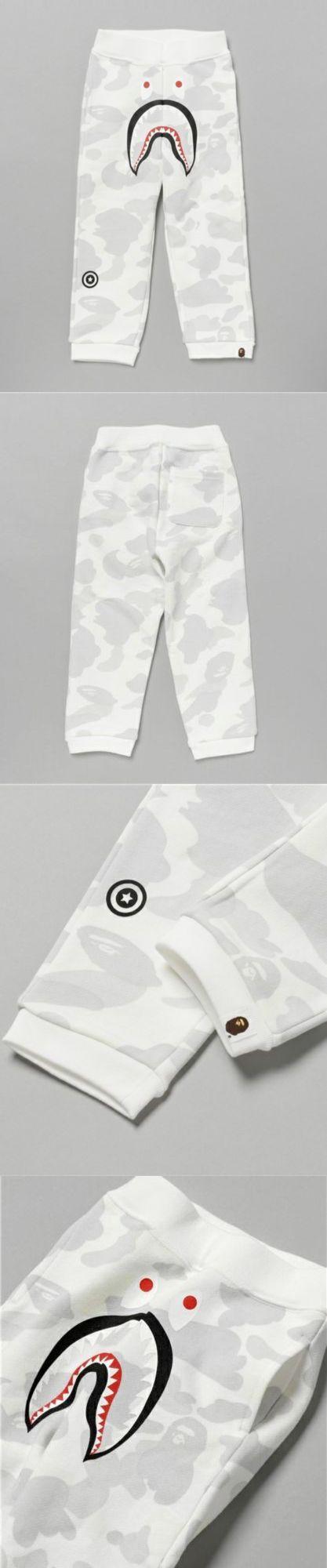 Pants 175654: A Bathing Ape City Camo Shark Sweat Pants Bape Kids Camouflage Pants From Japan -> BUY IT NOW ONLY: $178 on eBay!