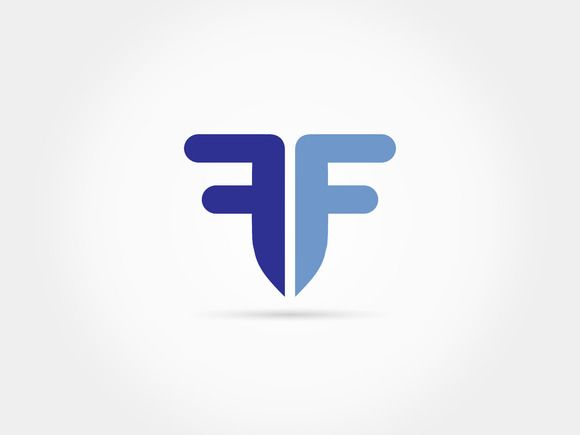 Mirroring F letter shape logo by @Graphicsauthor