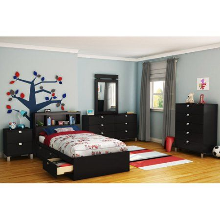 South Shore Spark Bedroom Furniture Collection, Black
