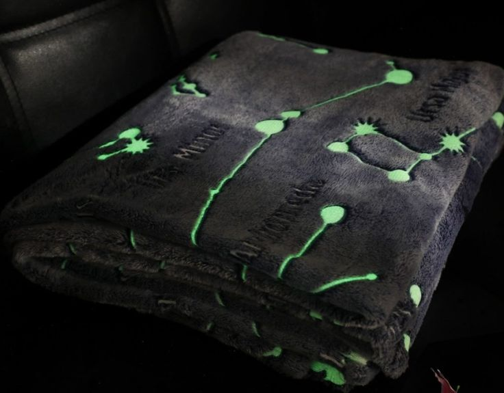 Microfiber Polyester Throw Blanket Glow in the Dark