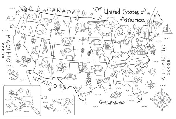 Map to color in.