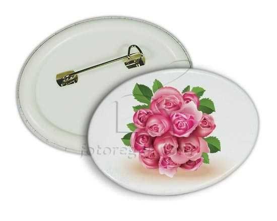 La spilla con il bouquet di rose