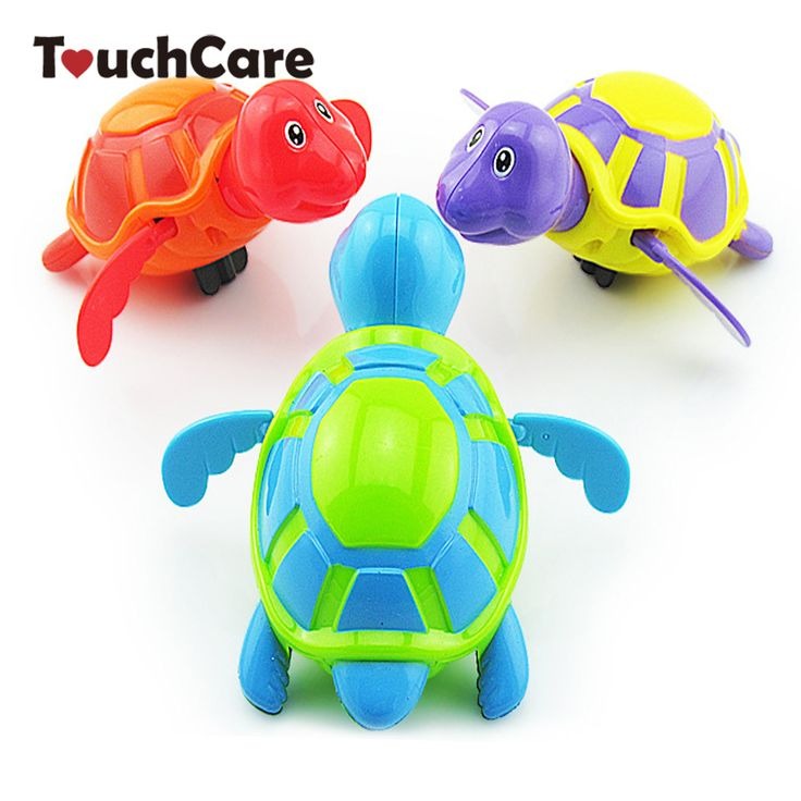 Cute Cartoon Animal Baby Bath Toys Swimming Turtle Wound-up Chain Clockwork Kids Classic Toy Children Gift Plastic Toys