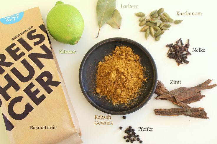 Rezept für ein leckeres arabisches Gericht aus Saudi Arabien mit Reis und Hähnchen: Kabsa.