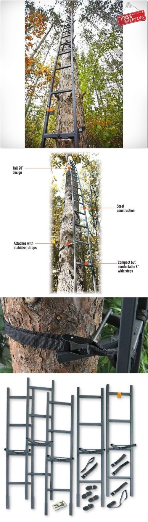 25 best ideas about climbing stands on pinterest best for Deer stand steps