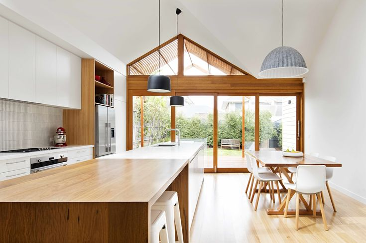2 New Gable Roofs Brighten Up an Edwardian Cottage in Melbourne - Dwell | #kitchen