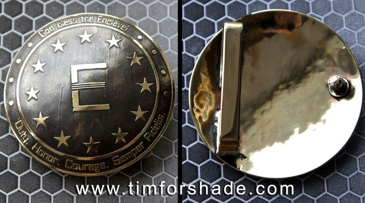 Enclave Fallout belt buckle by TimforShade on DeviantArt