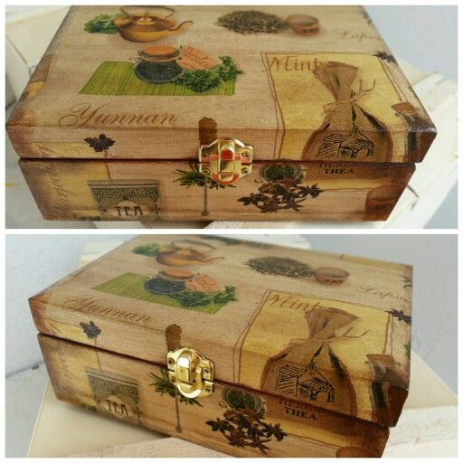 Decoupage tea box