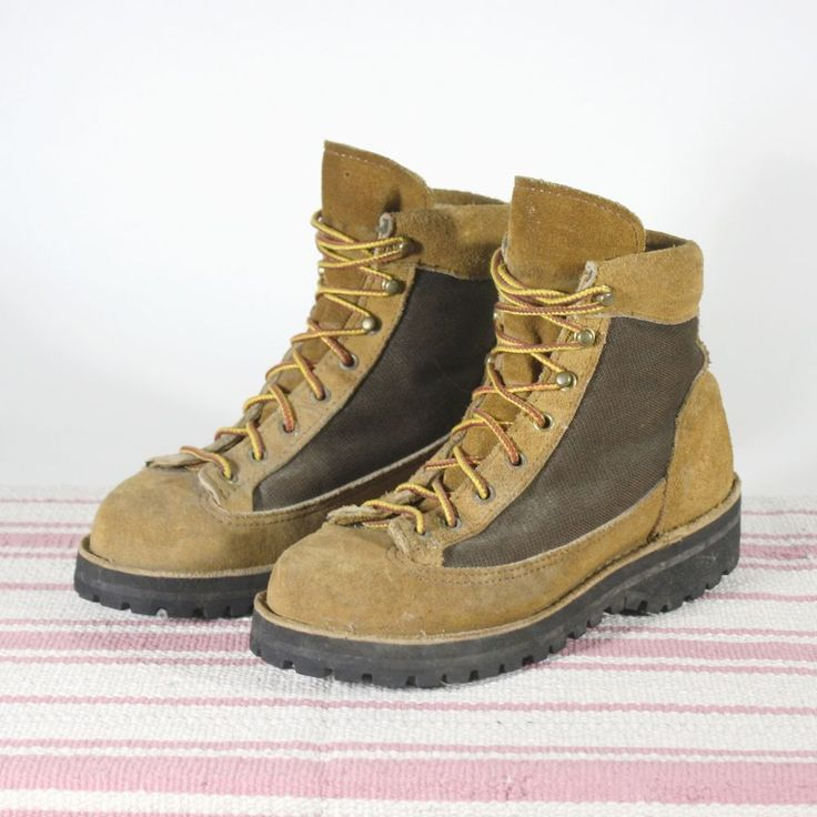 Danner Hiking Boots Womens Size 8 M Brown Suede Gore Tex Vibram Sole USA Made #Danner #AnkleBoots #WalkingHiking