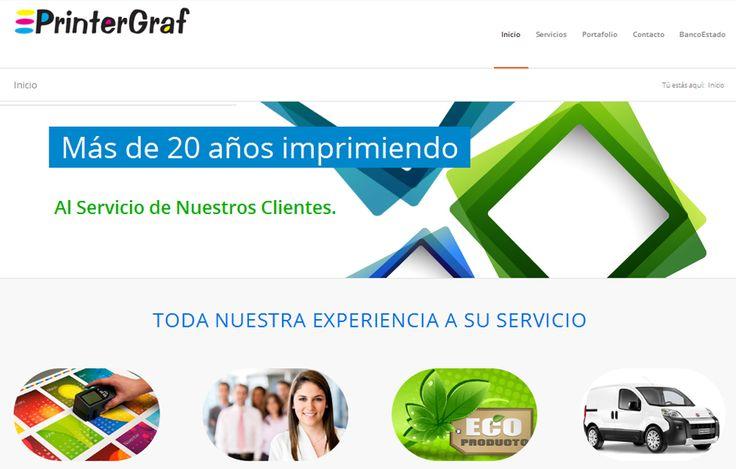 Sitio web www.printergraf.cl para nuestro cliente Printergraf. Versión 2016.