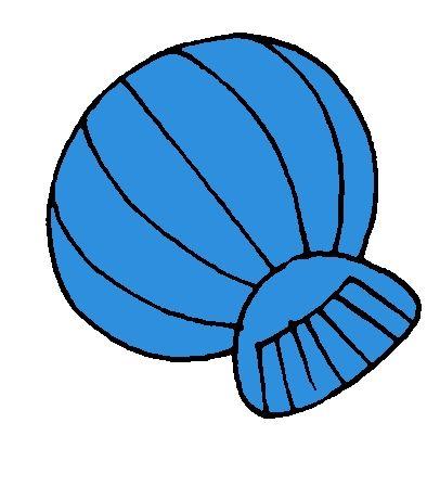 Blauwe schelp van kleurenspel