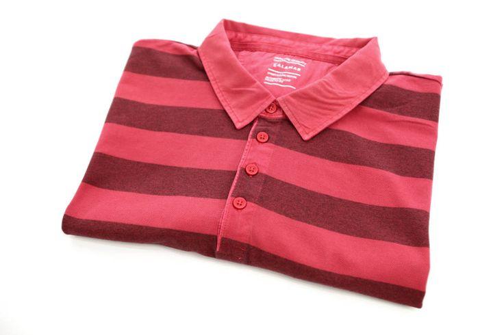 Polo Pierre Cardin w kolorze czerwonym w szerokie pasy. Krótki rękaw. Dostępna w rozmiarach od 3XL do 8XL. Skład: 100% bawełna.