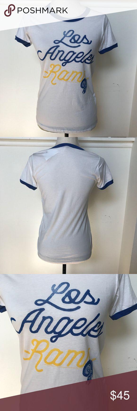 [Junk Food] Los Angeles Rams T-Shirt BNWT, excellent condition. Los Angeles Rams T-Shirt, super soft material, very comfortable. Smoke free home, no modeling and no trades Junk Food Tops Tees - Short Sleeve