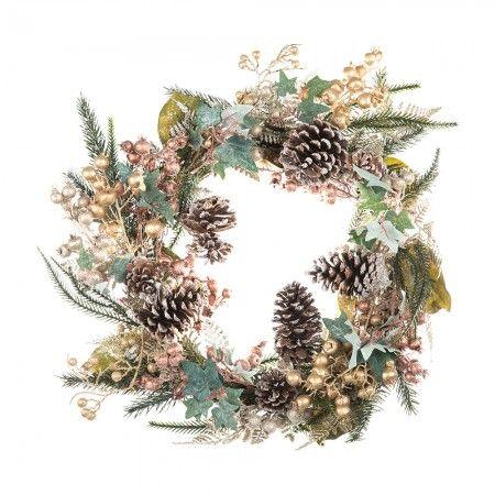 Copper Berry and Fir Wreath - Festive Home - Christmas Home - Christmas