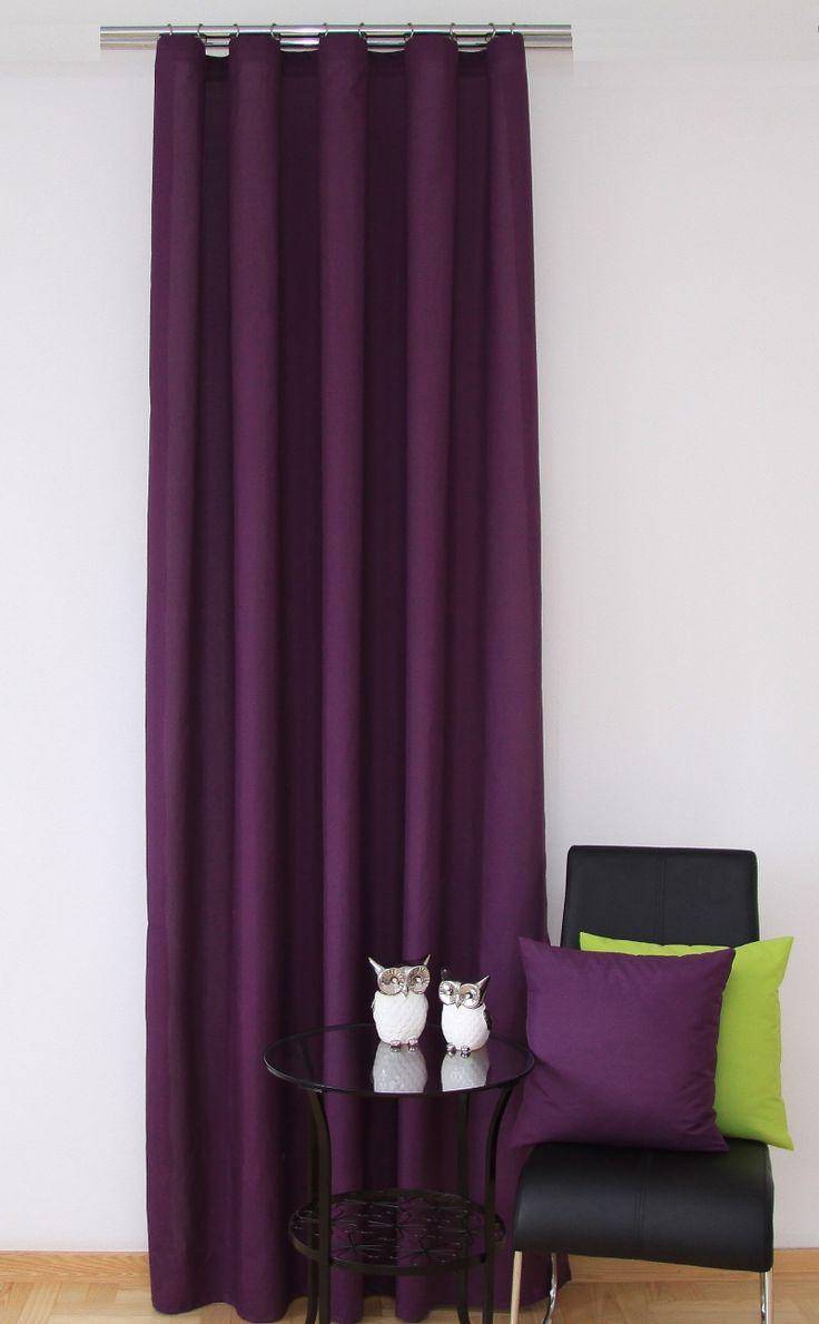 Tmavě fialový hotový závěs do ložnice
