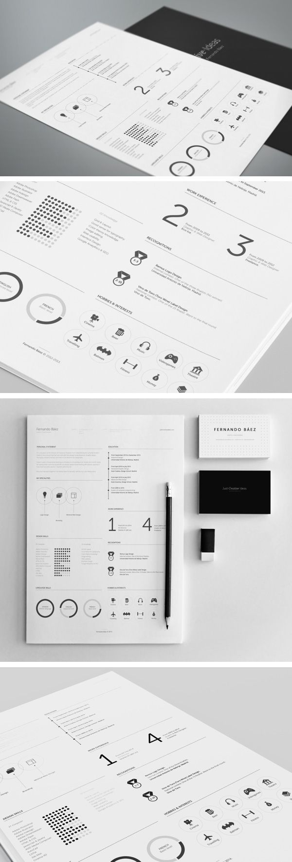 A free vector resume template that is