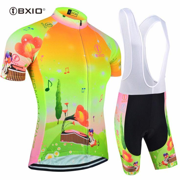 Bxio Women Cycling Jersey Sets Short Sleeve Cycling Clothes Women Fluorescence Green Bike Shirt Equipacion Ciclismo 2017 124 #Affiliate