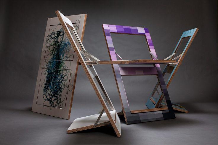 Fläpps: la sedia pieghevole che diventa un quadro | Design di interni, arredare casa con stile