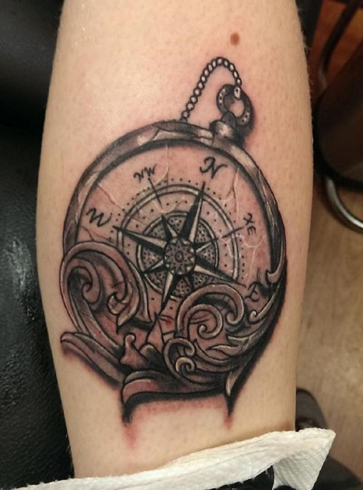 vintage-compass-tattoo-compass-tattoo-compass-and-tattoos-and-body-art ...