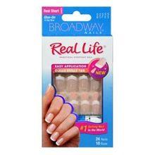 Kiss Broadway Nails Real Life French Nail Kit, Sensible, Manicure & Pedicure