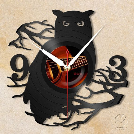 Hey, I found this really awesome Etsy listing at https://www.etsy.com/listing/107573216/vinyl-wall-clock-owl